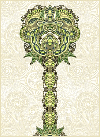 abstract ornamental floral tree  Vector