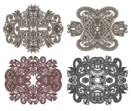 four ornamental floral adornment Stock Vector - 12976765