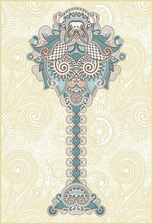 古美術品: 抽象的な装飾用の花の木