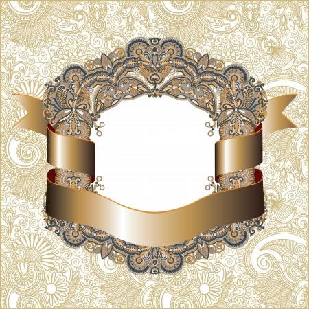 vintage frame with ribbon  Vector