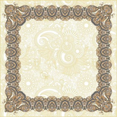 vintage floral frame  Element for design  Vector