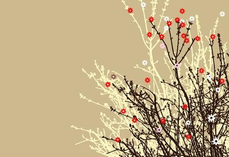 flower branch design Stock Vector - 12976697