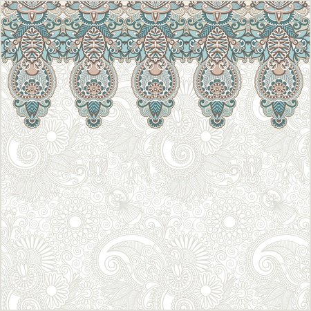 ornamental background: Ornamental seamless stripe, decorative element