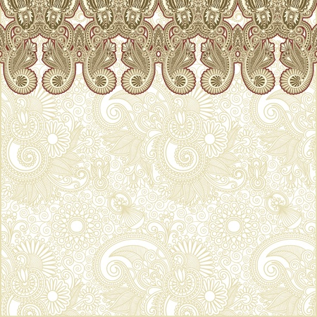 floral paisley: abstract flower background