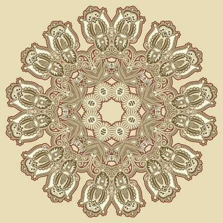 Circle ornament, ornamental round lace  Stock Vector - 12976772