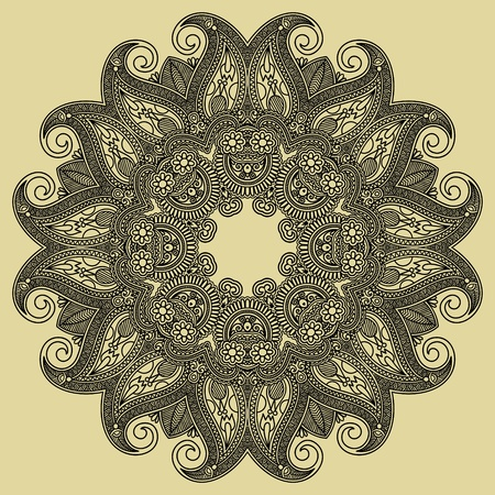 Circle ornament, ornamental round lace  Stock Vector - 12976759