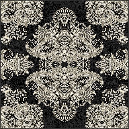 scarf: Traditional Ornamental Floral Paisley Bandana