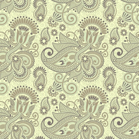 twigs: seamless flower paisley design background  Illustration