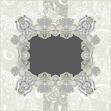 Vintage template with floral background Stock Vector - 12976778