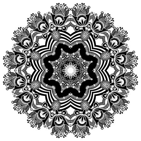 mandala flower: Circle ornament, ornamental round lace