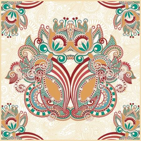 head scarf: Traditional Ornamental Floral Paisley Bandana