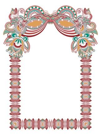 ornamental floral vintage frame design