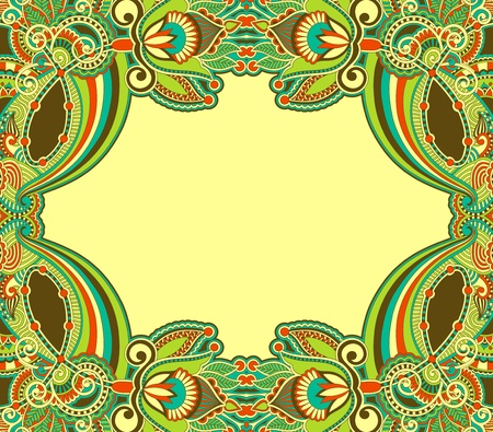 art deco background: ornamental floral vintage frame design