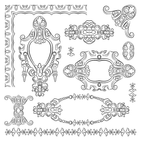 design heraldic element of old historical Kiev building Stock Vector - 13255312