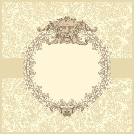 classical vintage old frame design  Stock Vector - 13255328