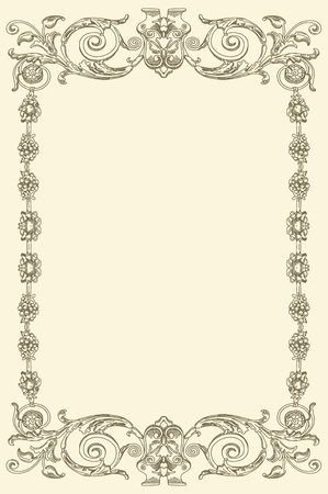 formal: classical vintage old frame design
