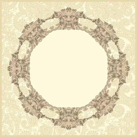 classical vintage old frame design Stock Vector - 13255317