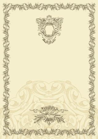 classical vintage old frame design Stock Vector - 13255320