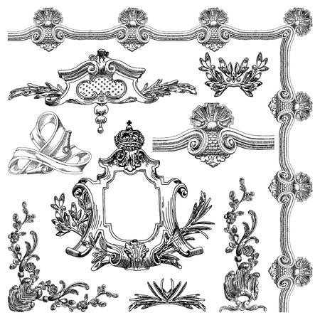 hand draw vintage sketch ornamental design element of Lviv historical building, Ukraine calligraphic design elements and page decoration  Stock Vector - 13357064