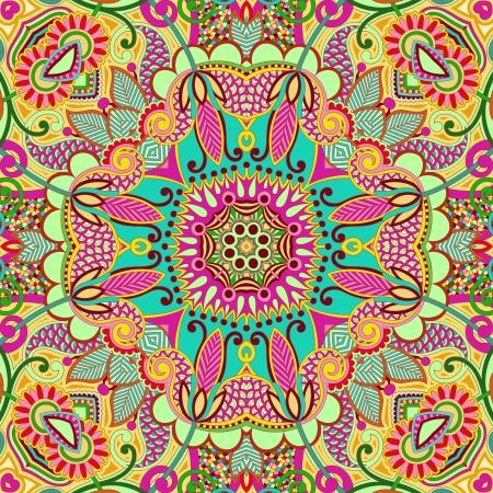 floral carpet: original retro paisley seamless pattern