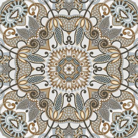 silk scarf: original retro paisley seamless pattern