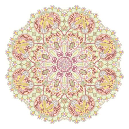 Ornamento Círculo, encaje redonda ornamentales Ilustración de vector