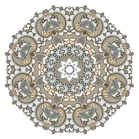 Circle ornament, ornamental round lace  Stock Vector - 13440372