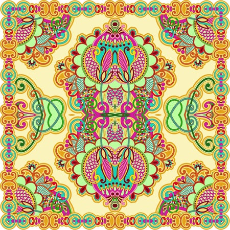 Traditional Ornamental Floral Paisley Bandana Stock Vector - 13440310