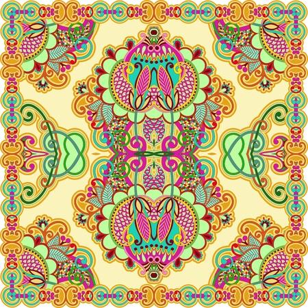 bandana western: Traditional Ornamental Floral Paisley Bandana