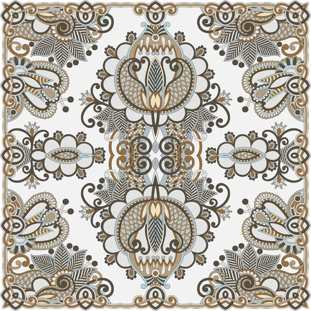 Traditional Ornamental Floral Paisley Bandana  Stock Vector - 13440306