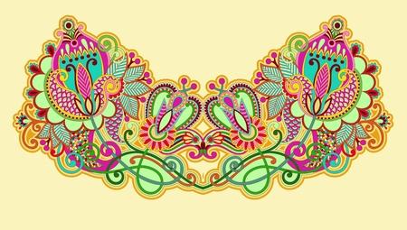 folk art: Neckline embroidery fashion