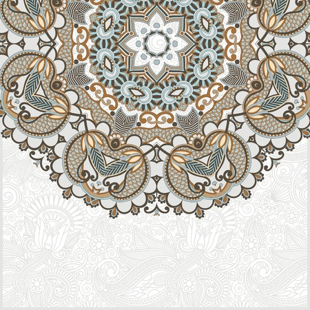 ornamental abstract circle floral background with place for your text  Vector