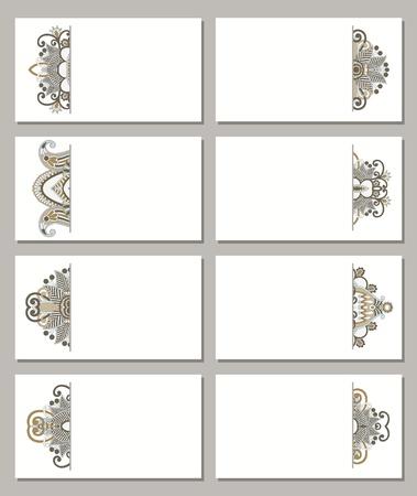 vector de negocio de flores Conjunto de tarjeta