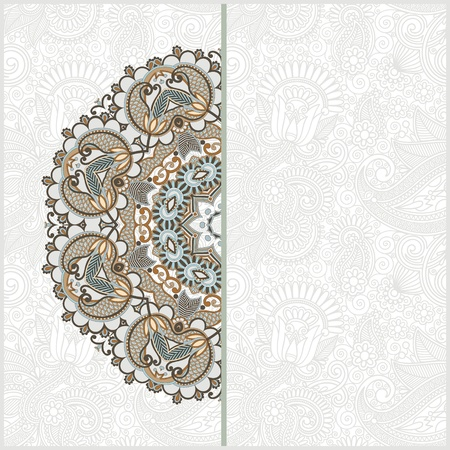 ornamental abstract circle floral background with place for your text Stock Vector - 13440499