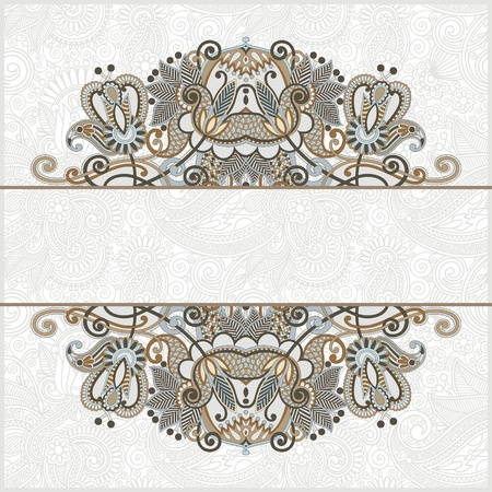 ornate card announcement  Stock Vector - 13440522