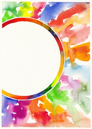 abstract watercolor painting background Stock Photo - 13756714