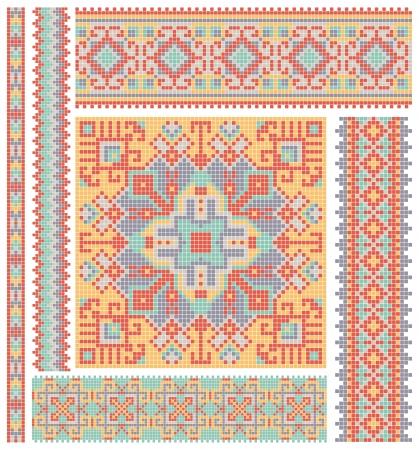 embroidered good like handmade cross-stitch ethnic Ukraine pattern design