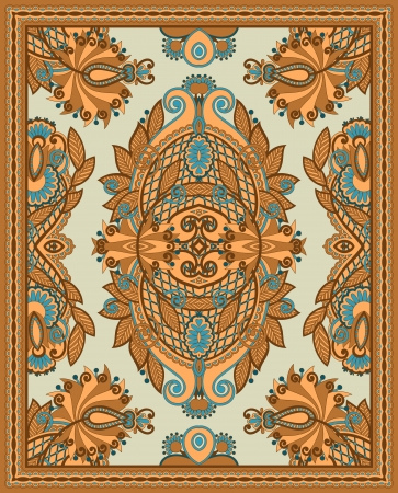 Ukrainian Oriental Floral Ornamental Seamless Carpet Design Stock Vector - 13768926
