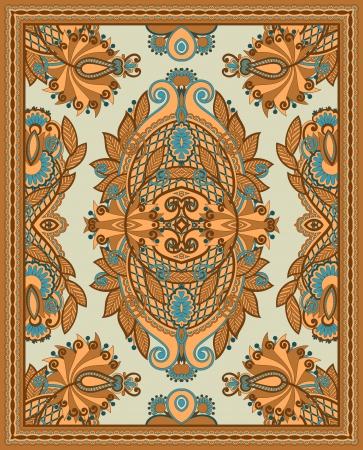 Ukrainian Oriental Floral Ornamental Seamless Carpet Design Stock Vector - 13768926