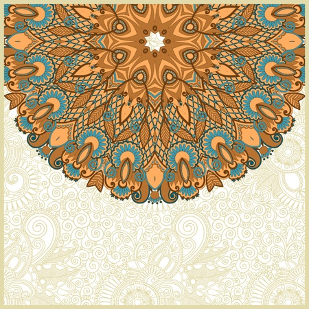 ornate card announcement Stock Vector - 13768928