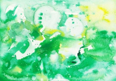 techniek: originele abstracte aquarel achtergrond penseelstreken Stockfoto