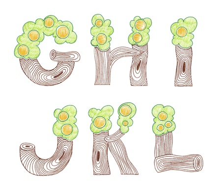 hand draw sketch marker doodle eco english alphabet Stock Vector - 13963784