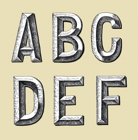 grammar: original hand draw sketch alphabet design illustration