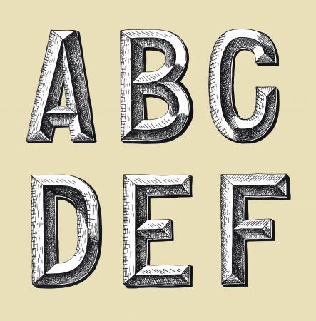 draw a sketch: original hand draw sketch alphabet design illustration