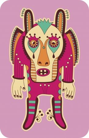 original modern cute ornate doodle fantasy monster personage Stock Vector - 14252302