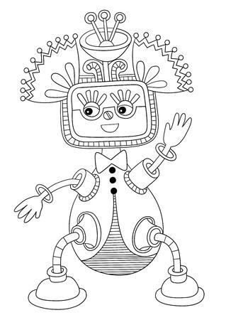 original modern cute ornate doodle fantasy monster personage Stock Vector - 14252297