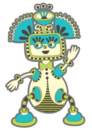 original modern cute ornate doodle fantasy monster personage Stock Vector - 14252295