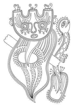 original modern cute ornate doodle fantasy monster personage