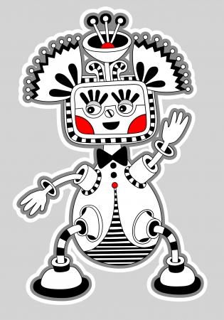 tatouage dragon: d'origine moderne mignonne orn�e personnage doodle monstre fantastique