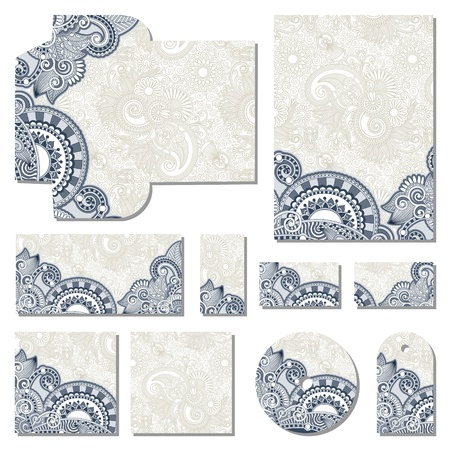 cd label: ornate floral business style templates